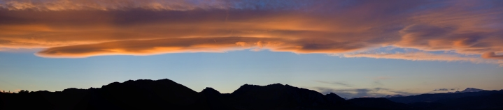 Winter sunset panorama, Boulder CO.