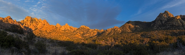 Cochise Stronghold west end panorama in late winter.