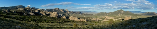 City of Rocks Idaho panorama.