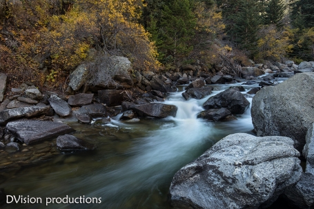 Boulder Creek with fall colors.
