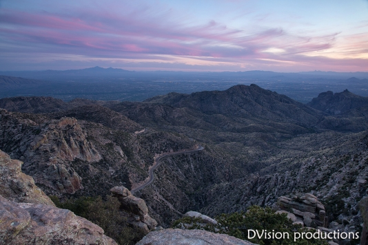 Tucson sunset from Mt. Lemmon.