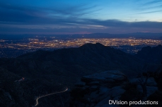 Night view of Tucson from Mt. Lemmon.