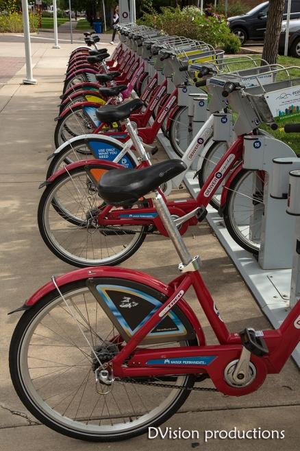 UC Denver bike station.