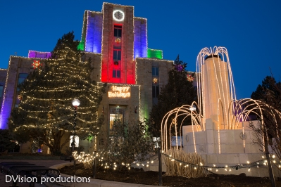 Boulder Courthouse during the holiday season.