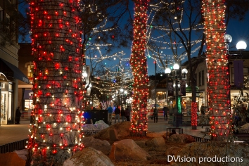 Holiday lights, Pearl St. Mall, Boulder CO.