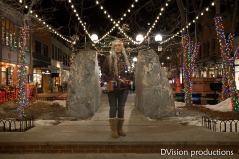 The ghost of Christmas present, Pearl St. Mall, Boulder CO.