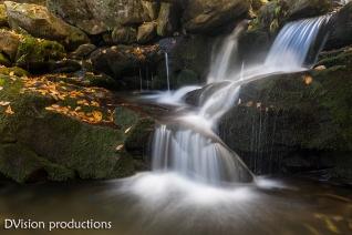 Appalachian creek fall view.
