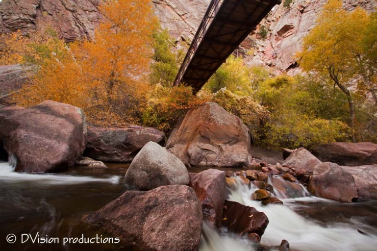 Eldorado Canyon in the fall.