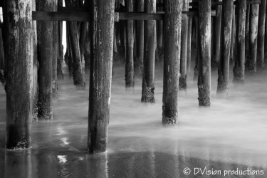 Pier waves time exposure, Santa Cruz CA.