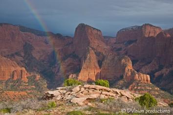 Kolob Canyon rainbow, Zion NP.