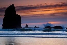 Sunset, Canon Beach OR.