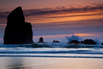 Sunset, Canon Beach OR.