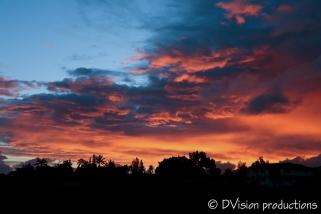 Kauai north shore sunset.