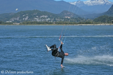 Kite boarding in Squamish BC
