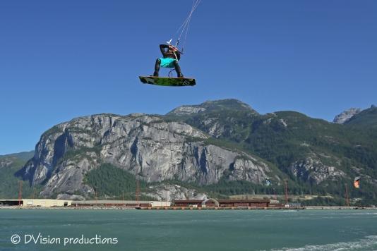 Kite boarding in Squamish BC