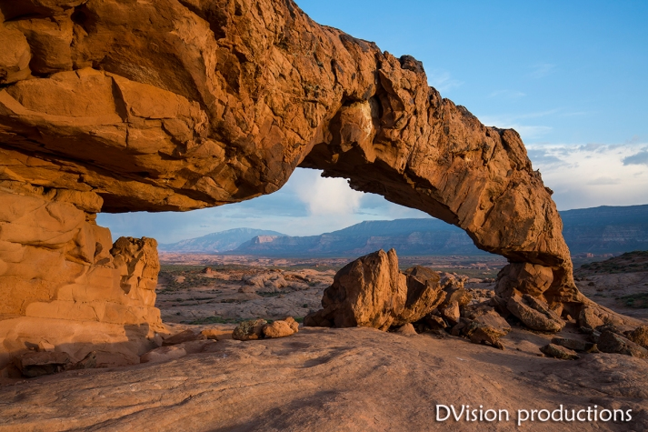 Arch at sunset, Escalante Canyons, UT.