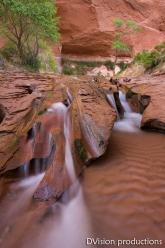 Slick rock waterfall, Escalante Canyons UT.
