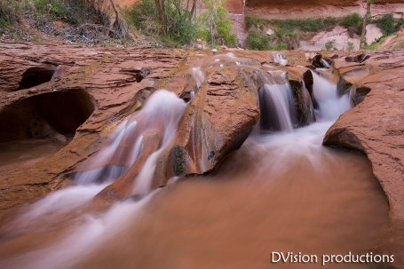 Slick rock waterfall, Escalante Canyons UT.