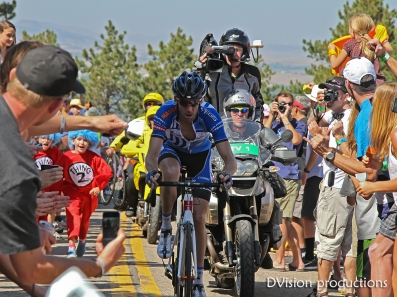 The leader during the Flagstaff mountain race, Pro Cycling Challenge 2012