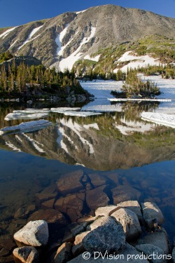 Indian Peaks reflection, CO.