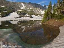 Melting snows in summer, Indian Peaks CO.
