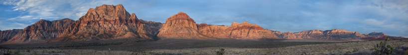 Panorama of Red Rock Canyons, Las Vegas NV